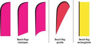 Beach flags formes