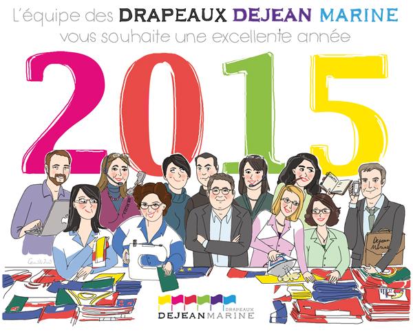Vœux 2015 - Drapeaux Dejean Marine
