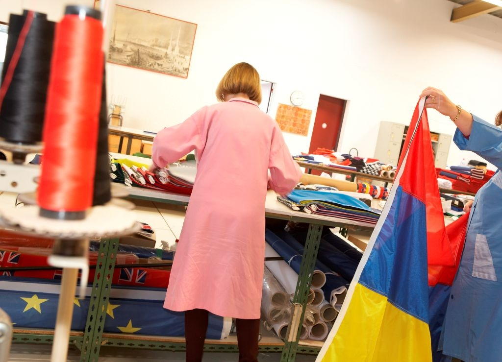 Fabrication, couture dans l'atelier