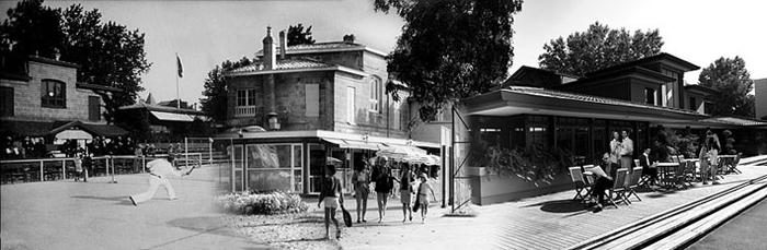 Villa Primrose avant noir et blanc