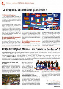 Article de presse - Drapeaux Dejean Marine