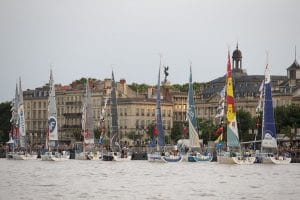 Bateaux sur le port de la lune Solitaire Urgo Le Figaro