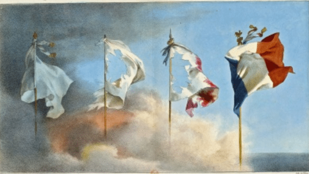 L'évolution du drapeau Français