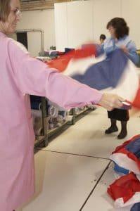 Couturières pliage pavillon France